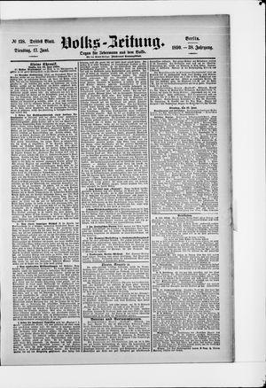 Volks-Zeitung vom 17.06.1890