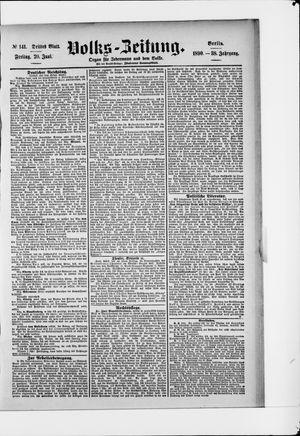 Volks-Zeitung vom 20.06.1890