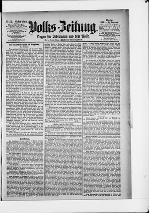 Volks-Zeitung vom 21.06.1890