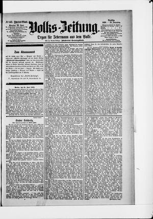 Volks-Zeitung vom 22.06.1890