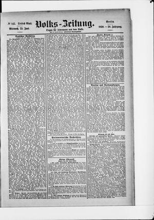 Volks-Zeitung vom 25.06.1890