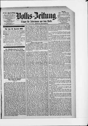 Volks-Zeitung vom 28.06.1890