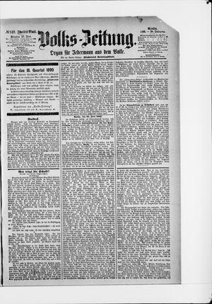 Volks-Zeitung vom 29.06.1890