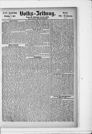 Volks-Zeitung vom 07.07.1891