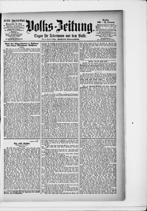 Volks-Zeitung vom 11.07.1891