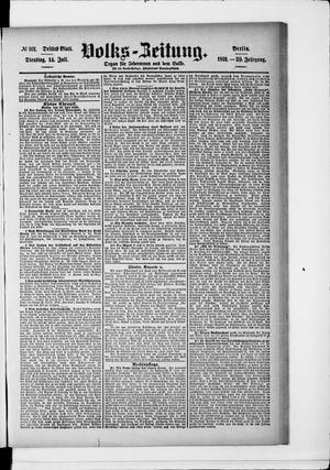 Volks-Zeitung vom 14.07.1891