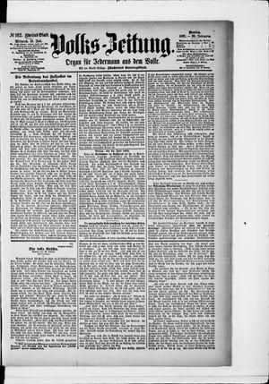 Volks-Zeitung vom 15.07.1891