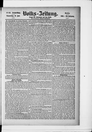Volks-Zeitung vom 16.07.1891