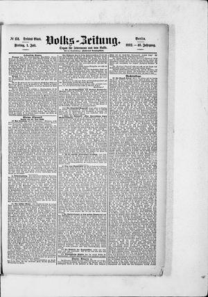 Volks-Zeitung vom 01.07.1892