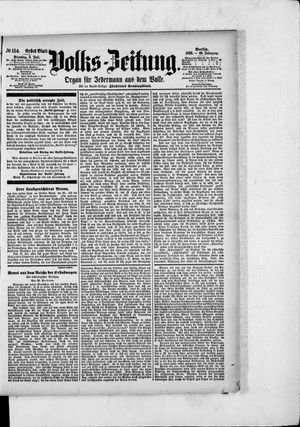 Volks-Zeitung vom 05.07.1892
