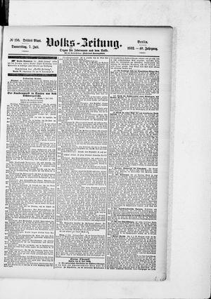 Volks-Zeitung vom 07.07.1892