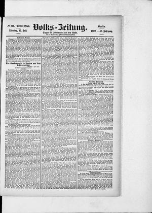 Volks-Zeitung vom 12.07.1892