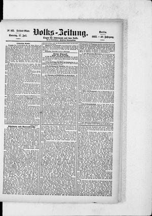 Volks-Zeitung vom 17.07.1892