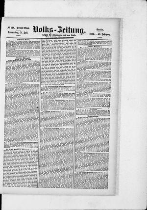 Volks-Zeitung vom 21.07.1892