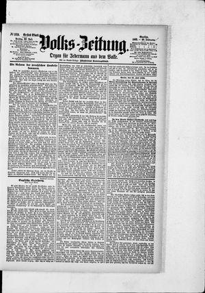 Volks-Zeitung vom 22.07.1892