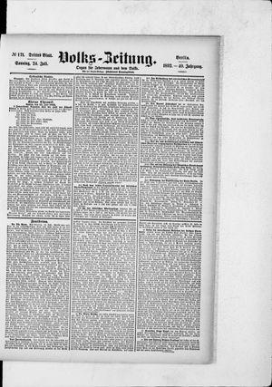 Volks-Zeitung vom 24.07.1892