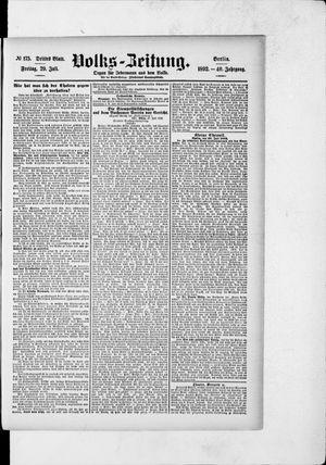 Volks-Zeitung vom 29.07.1892
