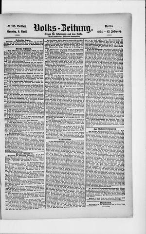 Volks-Zeitung vom 08.04.1894