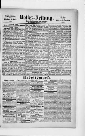 Volks-Zeitung vom 10.04.1894