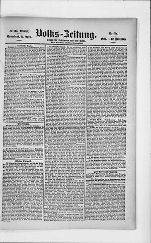 Volks-Zeitung on Apr 14, 1894