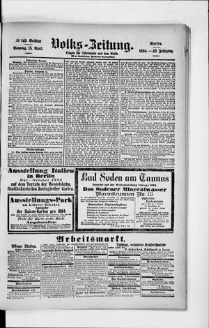Volks-Zeitung vom 15.04.1894