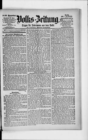 Volks-Zeitung vom 28.04.1894