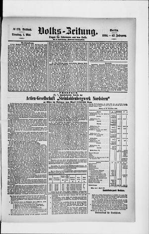 Volks-Zeitung on May 1, 1894