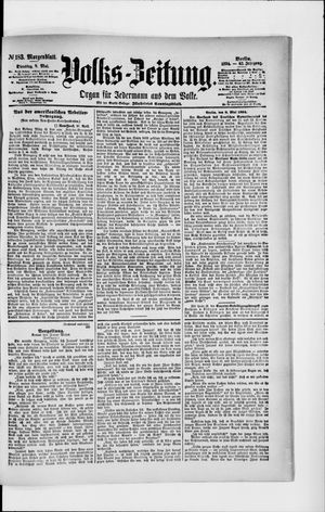 Volks-Zeitung vom 08.05.1894