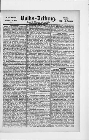 Volks-Zeitung vom 16.05.1894