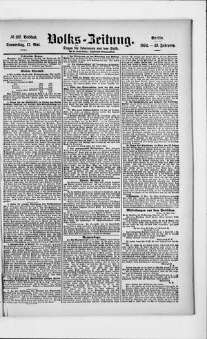 Volks-Zeitung vom 17.05.1894