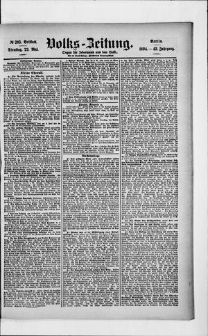 Volks-Zeitung vom 22.05.1894