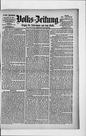 Volks-Zeitung vom 24.05.1894