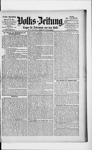 Volks-Zeitung vom 30.05.1894