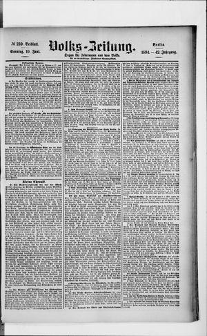 Volks-Zeitung vom 10.06.1894