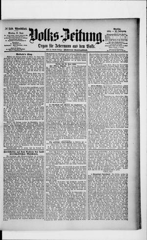 Volks-Zeitung vom 11.06.1894