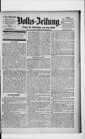 Volks-Zeitung vom 13.06.1894