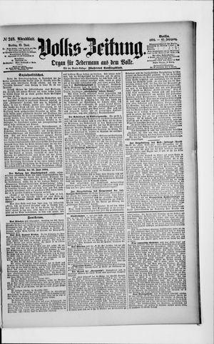 Volks-Zeitung vom 15.06.1894