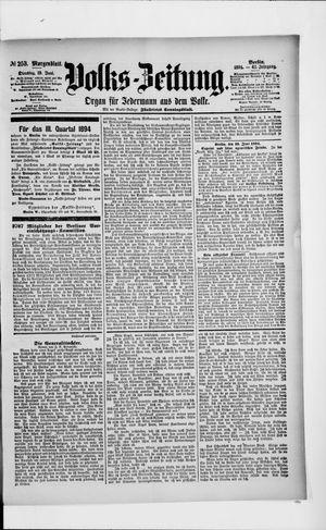 Volks-Zeitung vom 19.06.1894