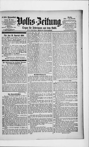 Volks-Zeitung vom 22.06.1894