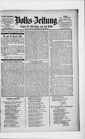 Volks-Zeitung vom 23.06.1894