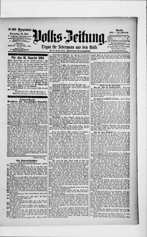 Volks-Zeitung vom 28.06.1894