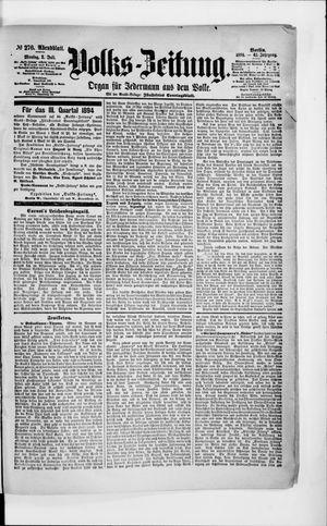 Volks-Zeitung vom 02.07.1894
