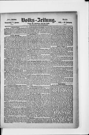 Volks-Zeitung vom 03.01.1895
