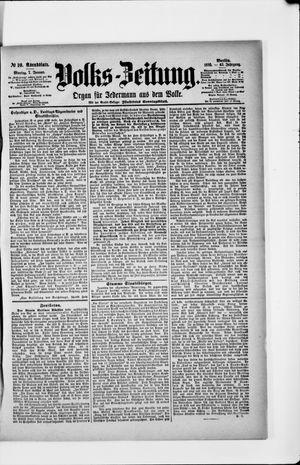 Volks-Zeitung vom 07.01.1895