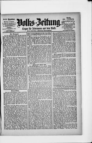 Volks-Zeitung vom 08.01.1895
