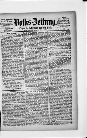 Volks-Zeitung vom 10.01.1895