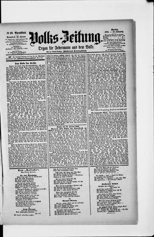 Volks-Zeitung vom 12.01.1895