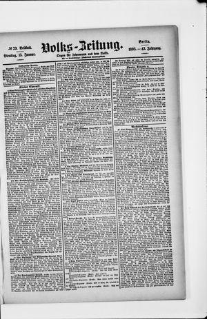 Volks-Zeitung vom 15.01.1895