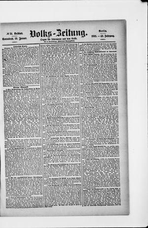 Volks-Zeitung vom 19.01.1895