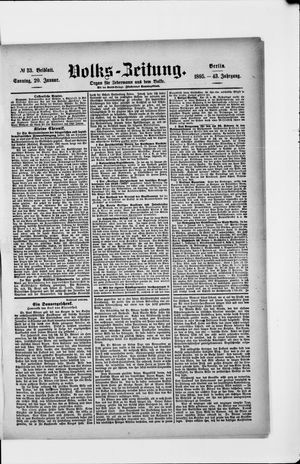 Volks-Zeitung vom 20.01.1895